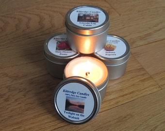 INDIANA  SAMPLER (four 2-oz soy candles)