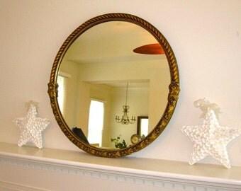 MIRROR, Ornate Mirror, Baroque Mirror, Round Mirror, Gold Gilt Mirror