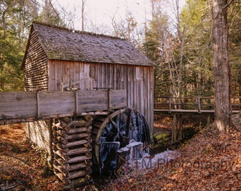 Cable Grist Mill - Cable Mill - The Great Smoky Mountains - The Smoky Mountains - Old Mill - Tennessee - Fine Art Photography