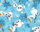 SPRINGS Disney Frozen Olaf Winter Snowflakes Flannel  by the yard fabric # 518781600710