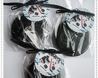 Hockey Puck Soap Hockey Party Favors Hockey Team Gifts Hockey Fan Stocking Stuffers (3 Soap Pucks and FREE SHIPPING!)
