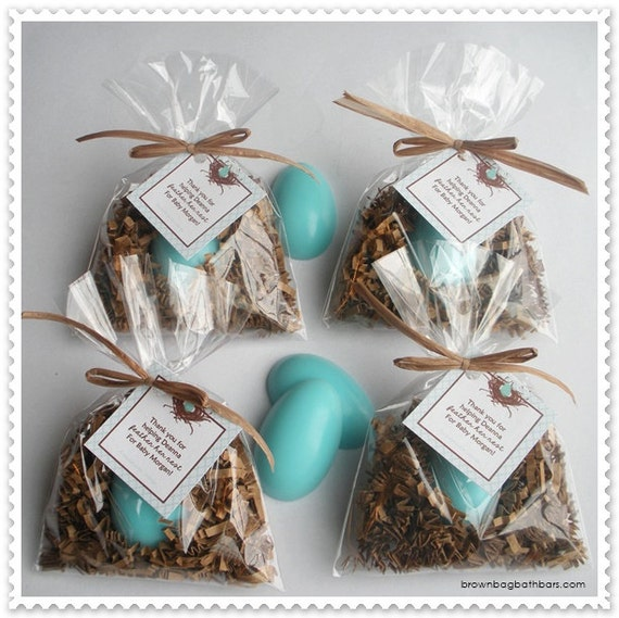 20 Bird Nest Egg Soap Party Shower Favors (Tags Included)
