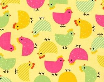 Robert Kaufman Fabric Urban Zoologie Chicks Garden Ann Kelle