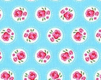 Michael Miller Fabric Lil Dotsy Robin Blue