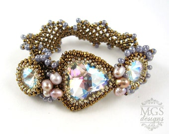 Arabesque Bracelet - Beading Pattern/Tutorial Downloadable PDF