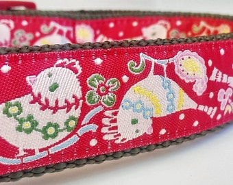 Holiday Birds - Dog Collar / Handmade / Pet Accessories / Adjustable / Christmas