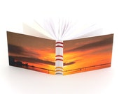 Sunset Small Sketchbook - Coptic Stitch Journal - Florida Golden Sunset