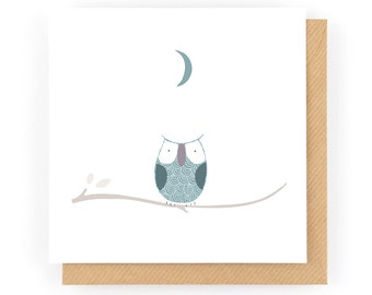 One Little Owl - Greeting Card (1-44C)