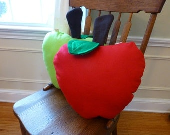 Apple Pillow-Fruit Pillow-Plush-Unique-Fruit-Apple