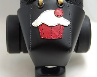 Leather Toe Guards with Red and White Cupcakes-- Or Choose Another Color!