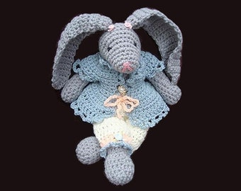 INSTANT DOWNLOAD Crochet Pattern stuffed toy bunny PDF 23 16 inch Rosalie Bunny Rabbit- Instructions for  bunny and clothing