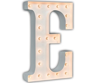 "Light Up Letter E - WHITE - 24"" Vintage Marquee Lights-The Original!"