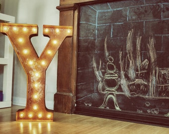 "Letter Y - 24"" Vintage Marquee Lights"
