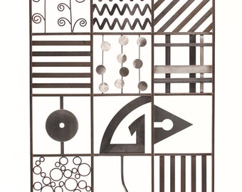 """Metal Wall Art 28"""" X 37"""" Handmade-Patchwork Series1"""