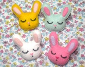 Bunny Rabbit Brooch - Woodland Animal Accessory - Cute Bunny Pin - Bunny Rabbit Pin - Pastel Bunnies - Rabbit Jewelry