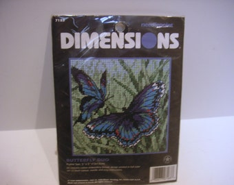Butterfly, Duo Dimensions, #7183  1998 Needlepoint kit  NEW