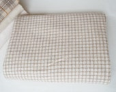 Natural Check - Wool Fabric - Felted Wool Fabric- 100% Wool