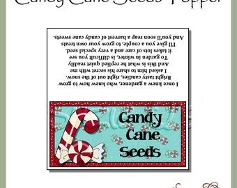 Candy Cane Seeds Topper - Digital Printable - Good Craft Show Seller - Immediate Download