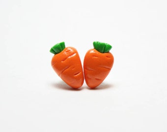 Tiny Carrot stud/post Earrings