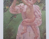 Mary Cassatt-Child Picking a Fruit, 1893/The Family, 1893/ Color Plate/ Book Print/2-sided