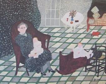 Grandma Moses, ROCKABYE, 1957   -  Color Print/Unframed Print--10.5 x 8 in