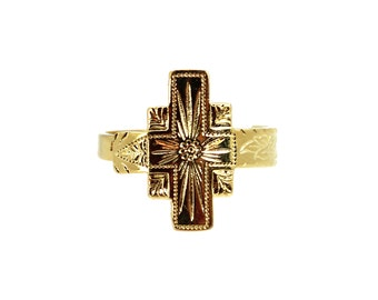 Adina Vintage Cross Ring