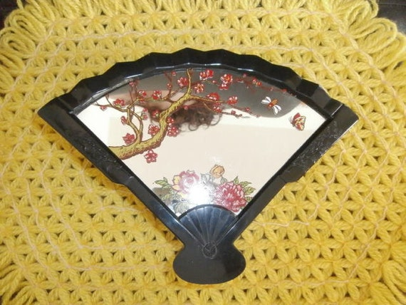 70's Yaps Apple Blossoms & Roses  ~ Butterfly ~ Fan Music Box Happy Day Again  Stand Up  Mirror