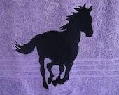 Purple horse towel set