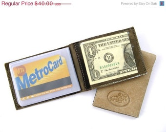 CLEARANCE SALE 50% OFF Credit Card Wallet, Credit Card Holder, Metro Card Case, Gift For Him, Gift For Her - in Very Dark Brown (No. 494)