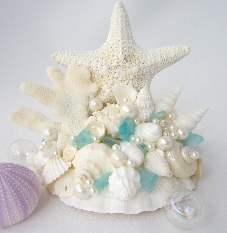 Beach Wedding Cake Topper Nautical Cake Topper Starfish Cake