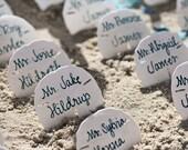 Sand Dollar Beach Wedding Favor Place Card Gift / Escort Card Written Name