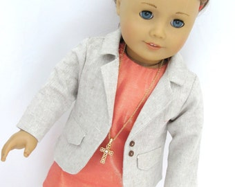 18 Inch Doll Clothes Trendy Sheath Dress and Jacket
