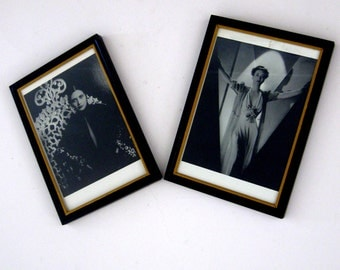 Vintage Framed Pictures Hollywood Vamps Joan Crawford Kay Francis Black and White Set of Two