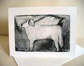 Great Pyrenees Dog Note Card Loss of Dog Pet Sympathy