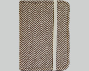 Kindle Cover Hardcover, Kindle Case, eReader, Kobo, Kindle Voyage, Kindle Fire HD 6 7, Kindle Paperwhite, Nook GlowLight Brown Herringbone