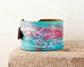 Turquoise Jewelry - Leather Bracelet Cuffs For Women - Leather Cuff Wristbands - Fashion Gift