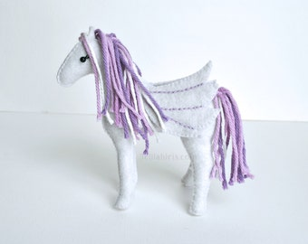 Stuffed Pegasus Pattern * PDF Stuffed Animal Sewing Pattern * Stuffed Unicorn, Horse, or Pegasus Plush Felt Animals