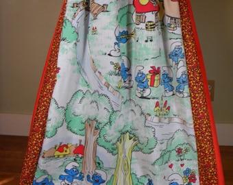 Vintage Smurf Hippie Skirt