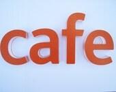 Cafe Letters (lowercase ) - Plexiglas Type Decorative Art - Wall Decor - On Sale