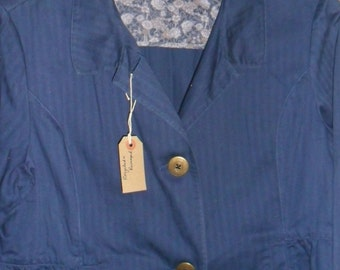 Steampunk  Summer Blue Governess Jacket