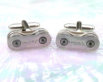Wedding Groom Gift Cuff Links Wippermann Connex Germany Premium Bike Chain Bicycle Chain Upcycled  Cyclist Racer  Mountain Biker  Motorcycle
