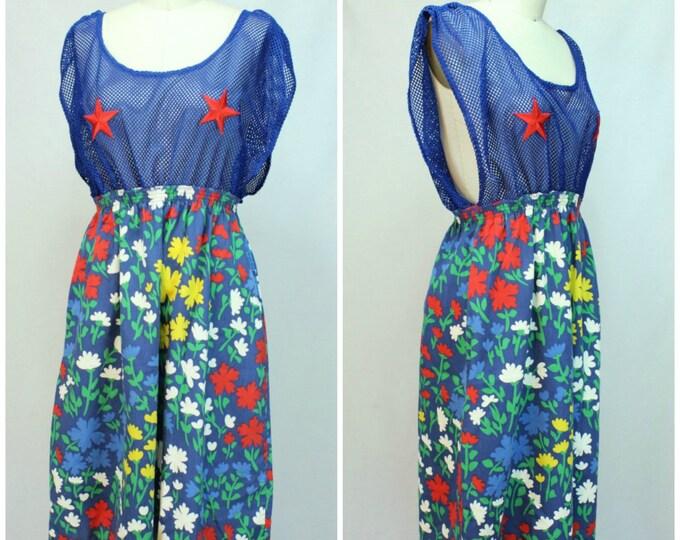 Vintage Festival Dress / Festival Wear Dress / Sheer Top Dress / Festival Costume / Vintage Pastie Dress / Festival Party Dress