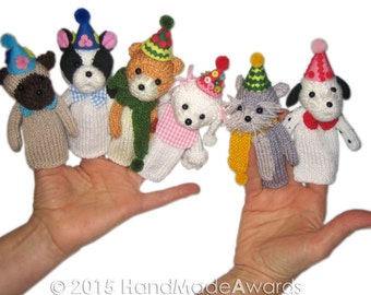 Puppies' Birthday Party PDF Email Knit PATTERN