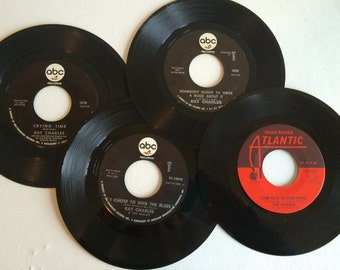 Group of 4 Ray Charles 45rpm Records