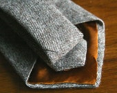 Men tweed wool tie