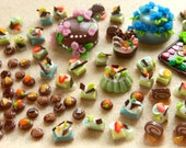 Large Cake Set for your dollhouse or fairy party OOAK fimo and sculpey