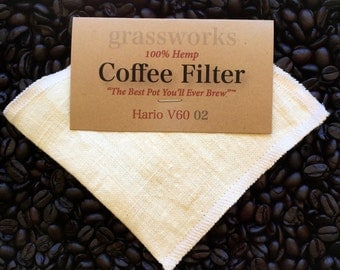 "HARIO V60 Reusable Hemp Coffee Filter ""The Best Pot You'll Ever Brew""™ 02"