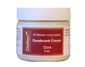 Clove - Deodorant Cream - All Natural Aluminum Free