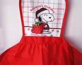 Vintage Snoopy Apron, Snoopy's Holiday