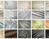 Luxurious Dupioni Silk Custom Pillow Covers Made from the Finest Pure Hand Made Dupioni Silk - Gray, Silver, White, Neutral